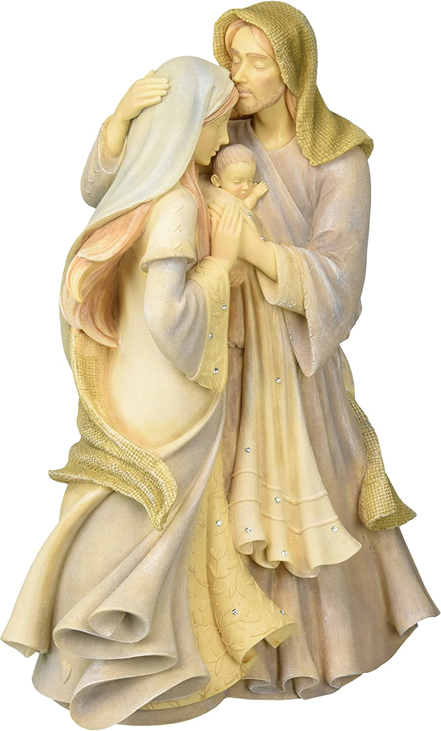 """Foundations Holy Family Masterpiece Stone Resin Figurine, 12"""""""