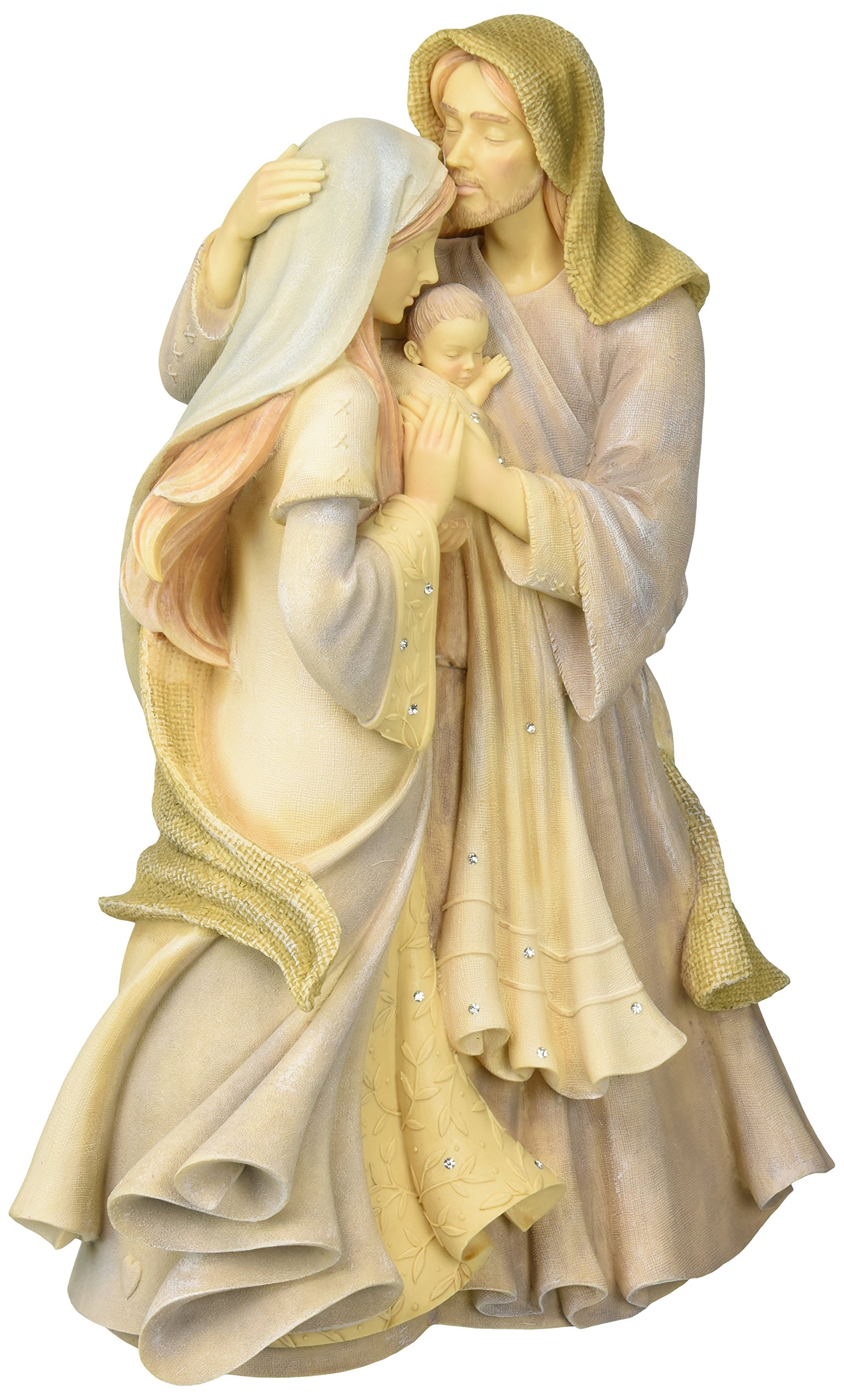 Foundations Holy Family Masterpiece Stone Resin Figurine, 12""