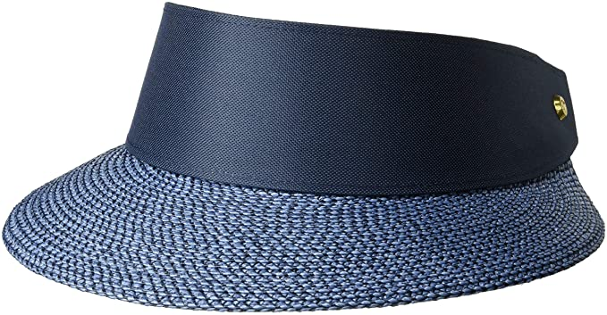 Eric Javits Luxury Women s Designer Headwear Hat - Champ Visor - Indigo Navy e0604c17f