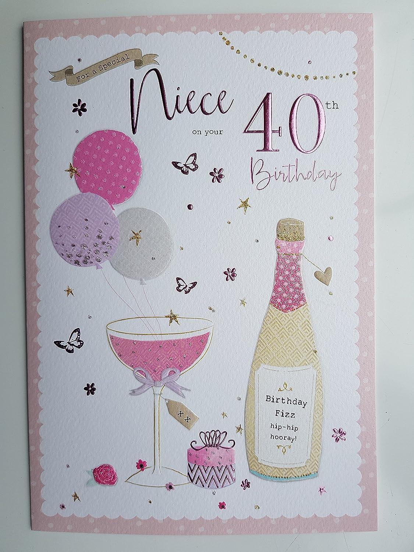Para un especial sobrina en tu 40th Tarjeta de cumpleaños ...