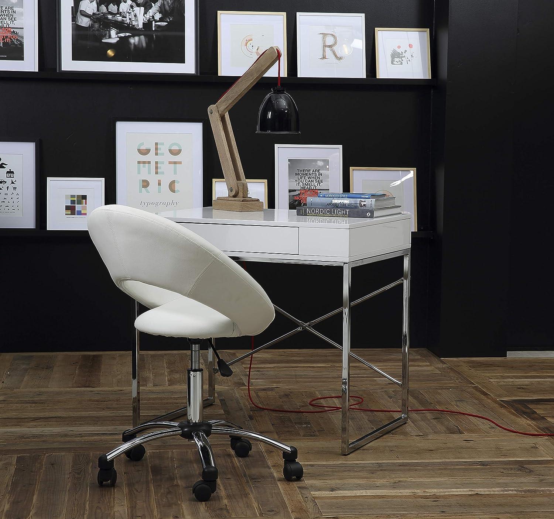 AC Design Furniture 28287 Silla de Oficina, Poliuretano, Blanco Blanco