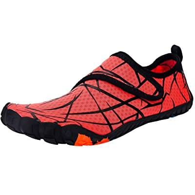 Amazon.com | Ansbowey Mens Womens Water Shoes Quick-Dry Barefoot Aqua Shoes for Beach Swim Surfing Diving Walking Fitness Driving Yoga Outdoor Aerobics Sports Orange 10 M US Women/9 M US Men | Water Shoes