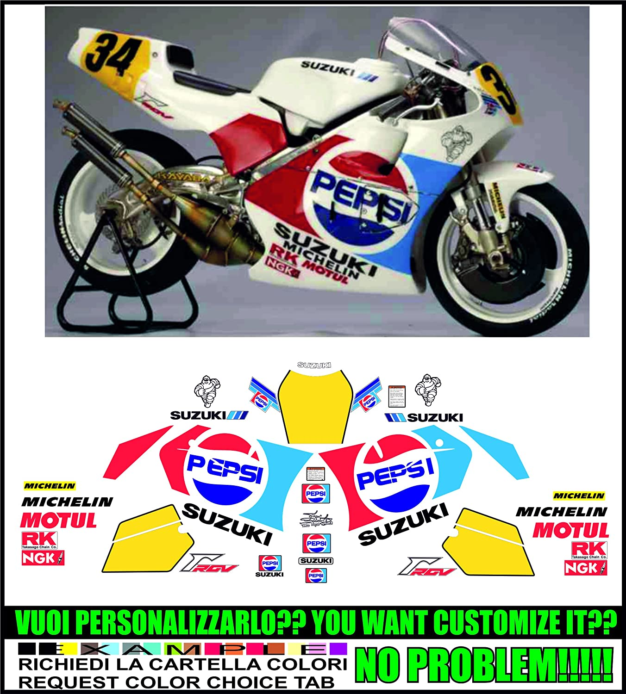 Kit adesivi decal stikers SUZUKI RGV 250 GAMMA 1991 WHITE