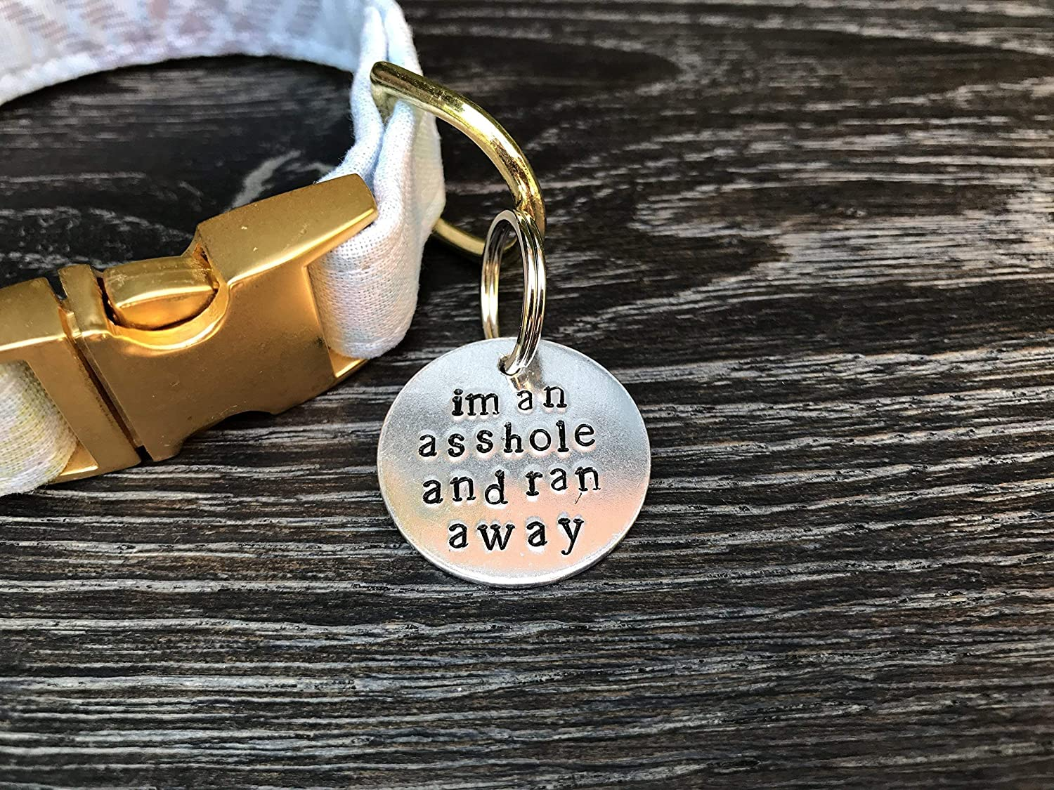 Dog Tag For Dogs - Pet ID Tag - Personalized Dog Tag - Hand Stamped Pet Tag - Pet Accessories - Custom Dog Tag - Unique Dog Tag