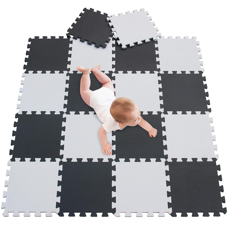meiqicool de Puzzle para ni/ños schaumstoffmatte de Espuma EVA Foam Puzzle spielmatte spielteppich de puzzleteppich Baby Espuma para Kid Tri/ángulo de Puzzle tama/ño 18PCS 010412
