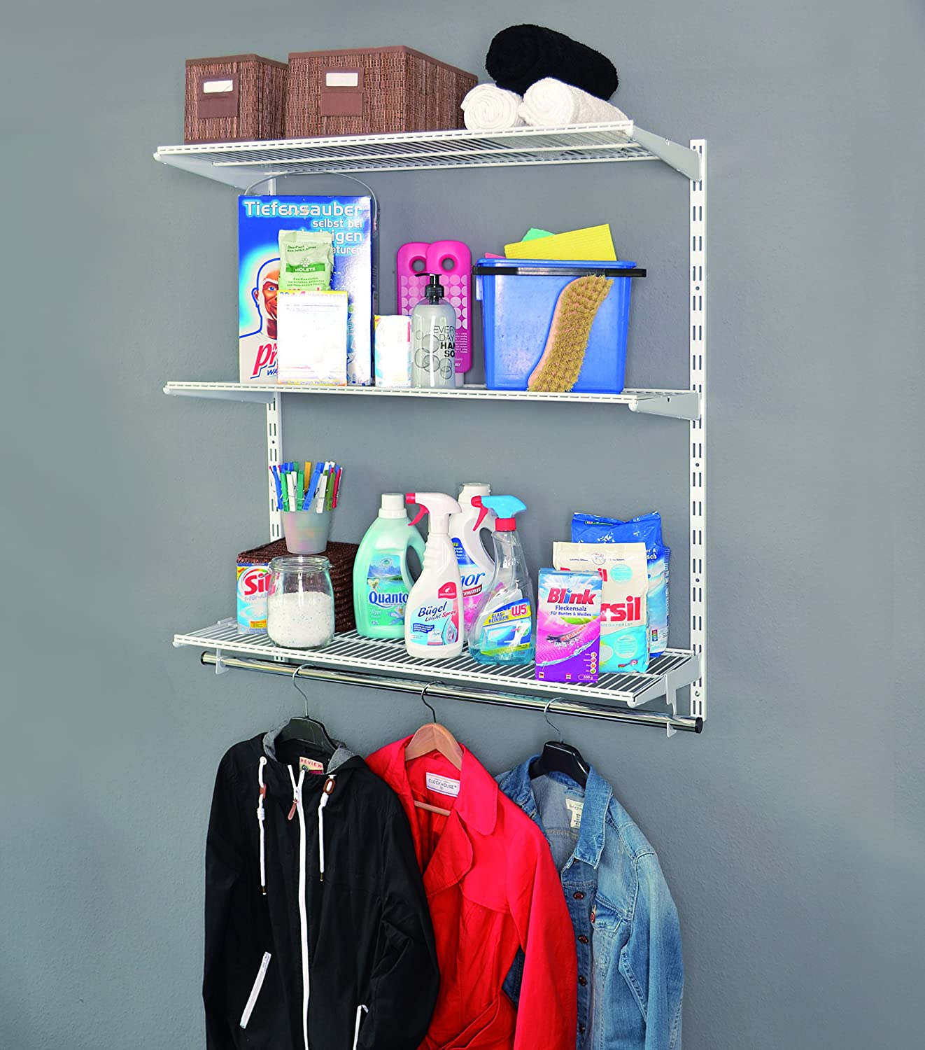 Element System 11356-00010 Wall Shelf Set Solution for Laundry Room ...