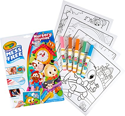 Amazon.com: Crayola Color Wonder Nursery Rhymes, Mess Free Coloring Pages &  Markers, Gift For Kids, Age 3, 4, 5, 6: Toys & Games
