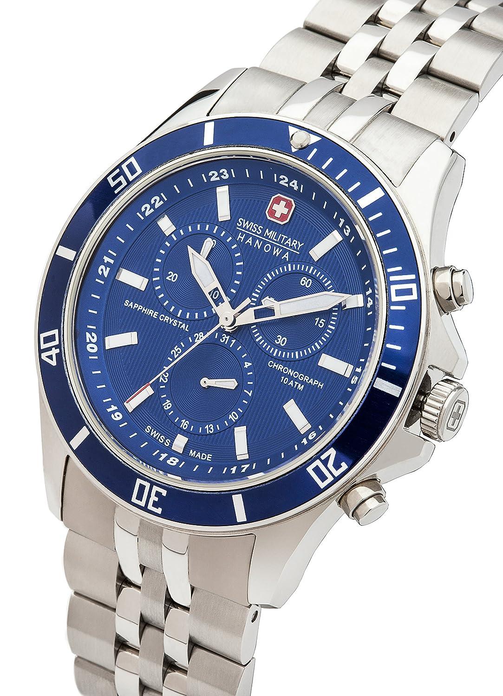 Amazon.com: Swiss Military Hanowa Flagship Mens Watch Chronograph 06-5183.7.04.003: Swiss Military Hanowa: Watches