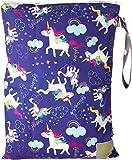 Itzy Ritzy Travel Happens Sealed Wet Bag with Adjustable Handle, Unicorn Dreams, Purple