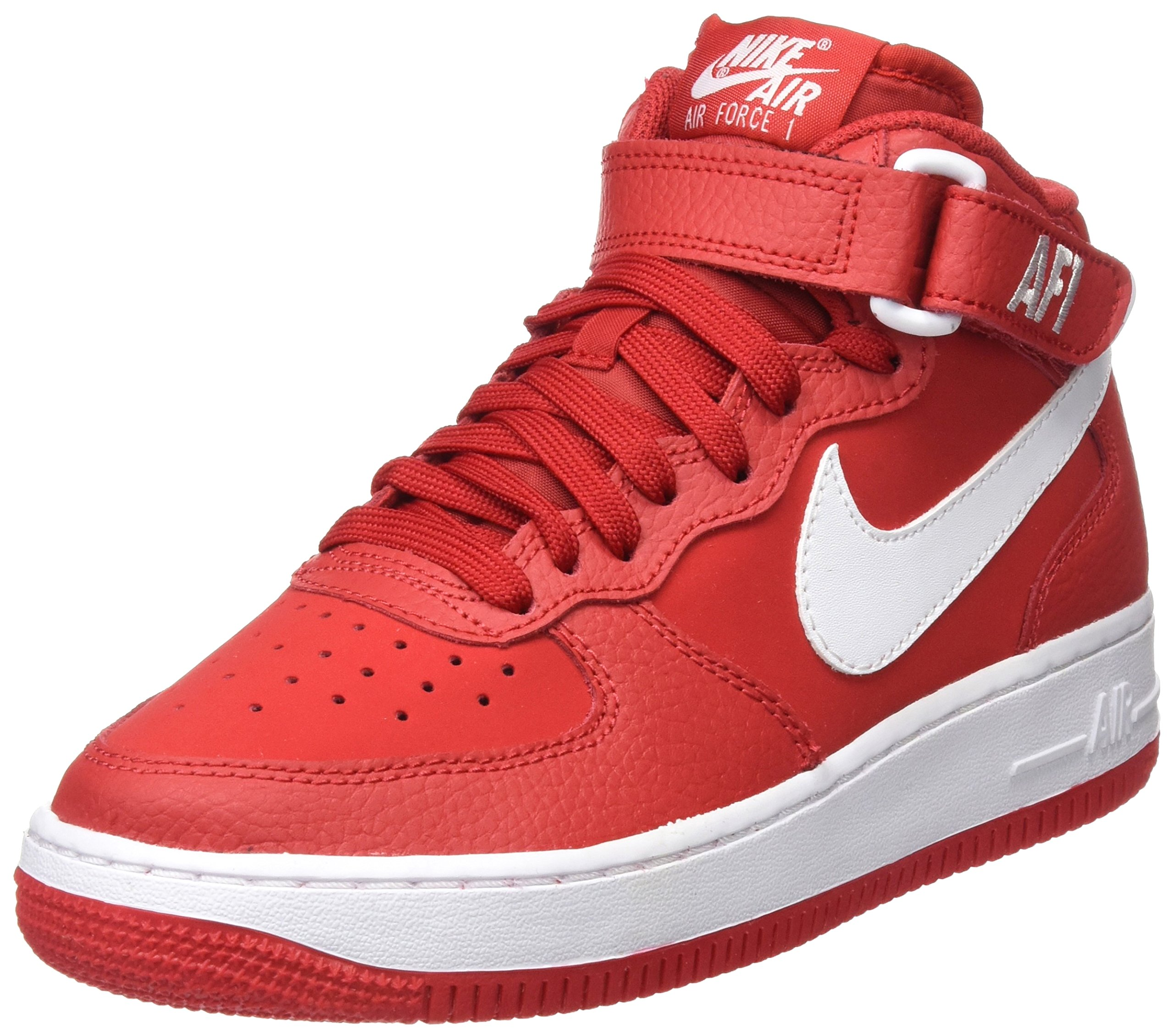 huge discount ed04c 20d84 Galleon - Nike Kids AIR Force 1 MID (GS) RED White Size 5.5