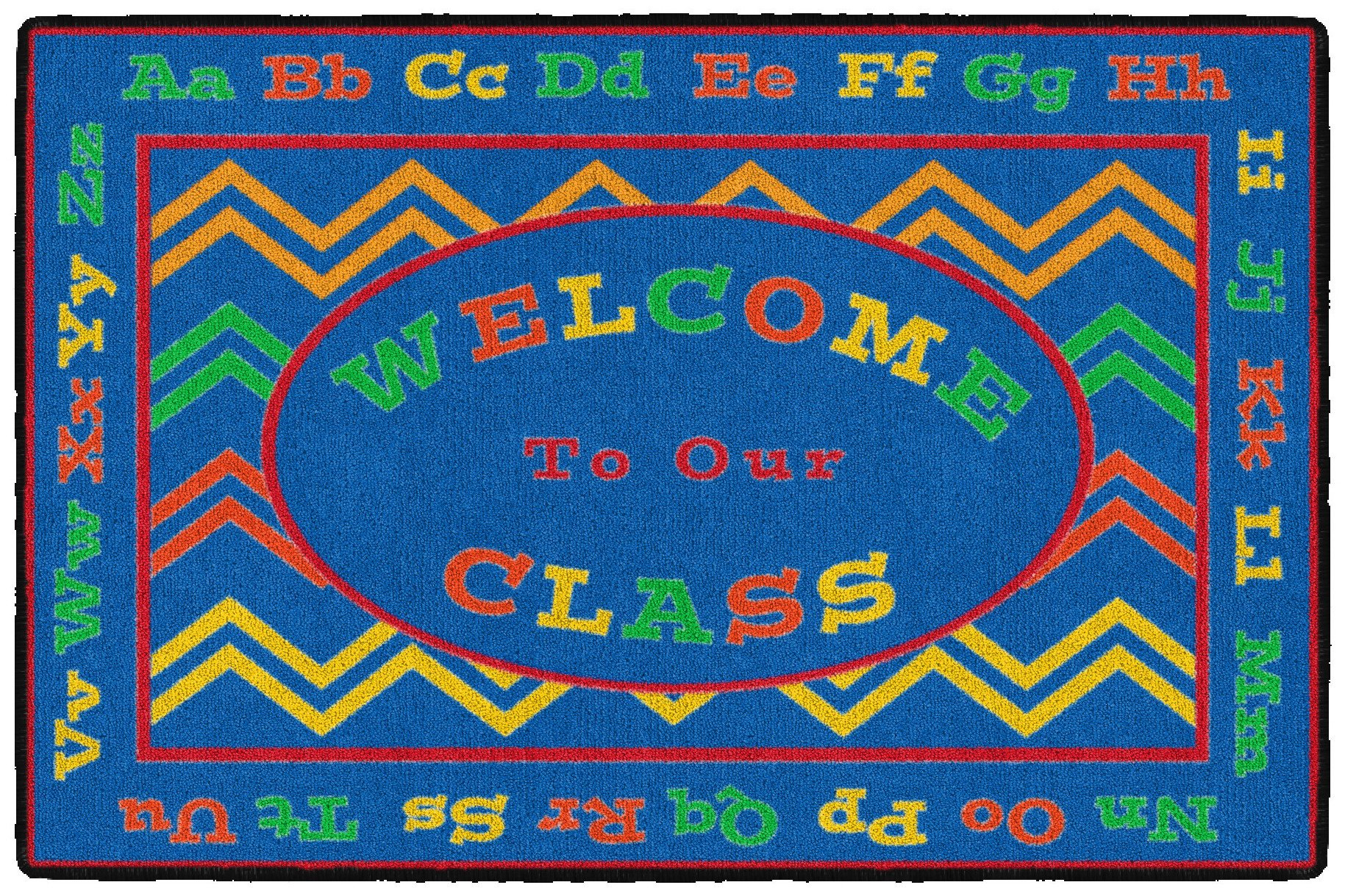 Flagship Carpets CE345-08A Chevron Welcome Mat, Multicolor