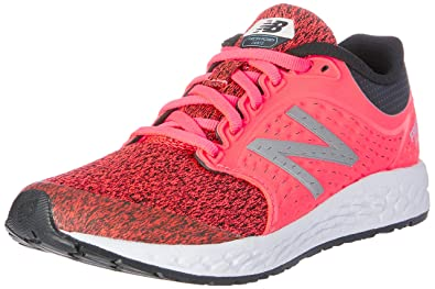 cbfab90c49dc New Balance Girls  Zante v4 Running Shoe Vivid Coral Black 1 M US Little