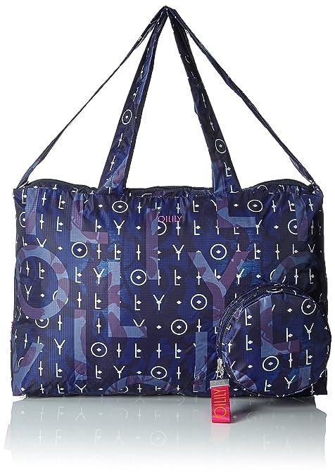 Oilily - Enjoy Shopper Xlhz, Bolsos maletín Mujer, Blau (Dark Blue),