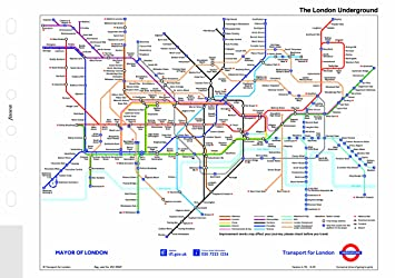 Map Of London With Underground.Filofax Pocket London Underground Map