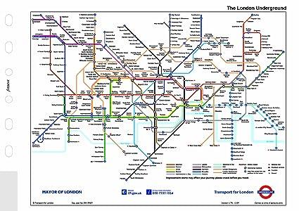 London Uk Subway Map.Filofax Pocket London Underground Map