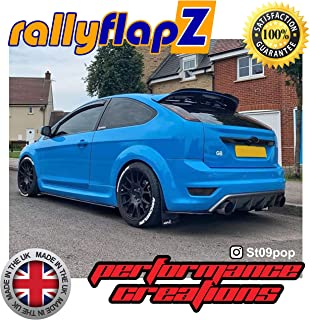 Full Set of 4 Mudflaps Including all Fixings /& Full Fitting Instructions! Genuine rallyflapZ 4mm PVC Black RF Logo Race Red Mud Guard//Mud Flaps Kit Made in the UK