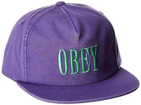 Obey Hombres Gorra de béisbol - Púrpura -: Amazon.es: Ropa y ...