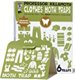 Clothes Moth Traps 6 Pack | No insecticides | Child and Pet Safe | Advanced Attractant | Protect Your Clothes, Wool…