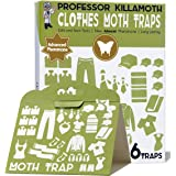 Clothes Moth Traps 6 Pack | No insecticides | Child and Pet Safe | Advanced Attractant | Protect Your Clothes, Wool, Sweaters