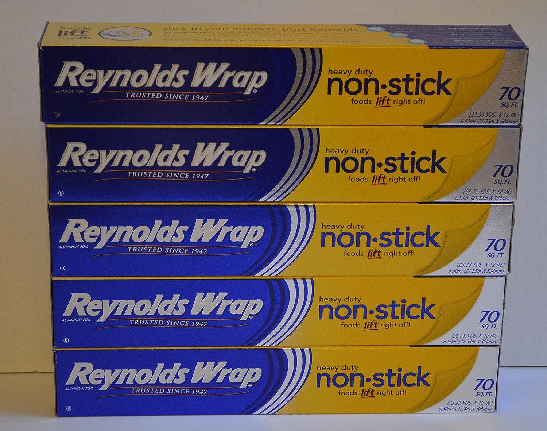 Reynolds Wrap Heavy Duty Non Stick Aluminum Foil 70 Sq. Ft. 5 Packs