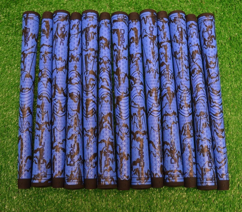 Winn 13 dri-tac X Midsizeゴルフクラブグリップ – ブルー/ブラック – 60 RND – 49 g – 19409 B07C2C1YNC