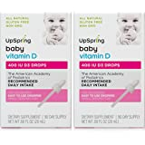 UpSpring Baby D, Baby Vitamin D3 Drops, 2 Boxes with Easy to Use Dropper