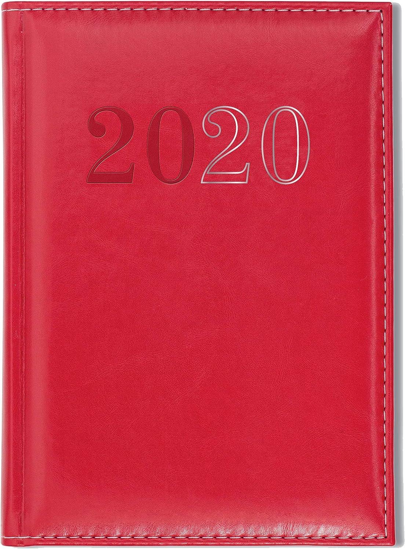 Collins Chelsea Agenda 2020 1 jour par page Rouge A5