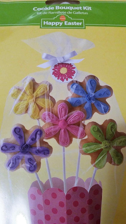 Amazon.com : Wilton Cookie Bouquet Flower Pot Display Kit : Grocery ...