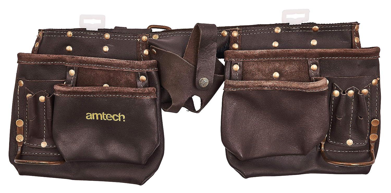 Am-Tech Trousse à outils en cuir ultra résistant 12 poches (Import Grande Bretagne) AM-N1045