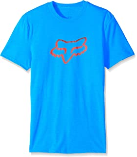 ~NEW~ MENS FOX croozade SHORT SLEEVE PREMIUM TEE T-SHIRT BLUE