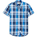 Amazon Brand - Goodthreads Men's Slim-Fit Short-Sleeve Plaid Poplin Shirt