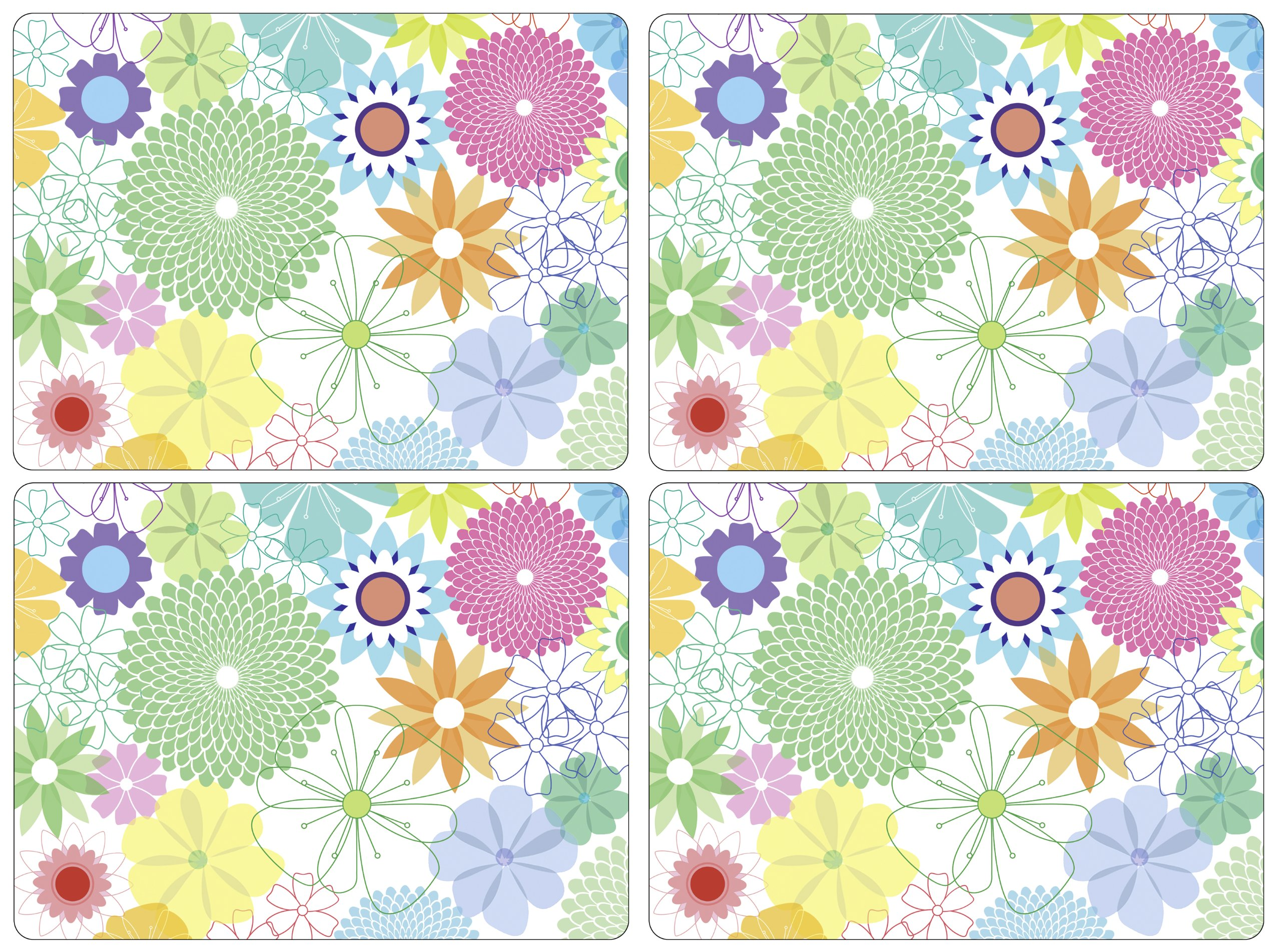 Portmeirion Crazy Daisy Large Placemats (Box of 4)