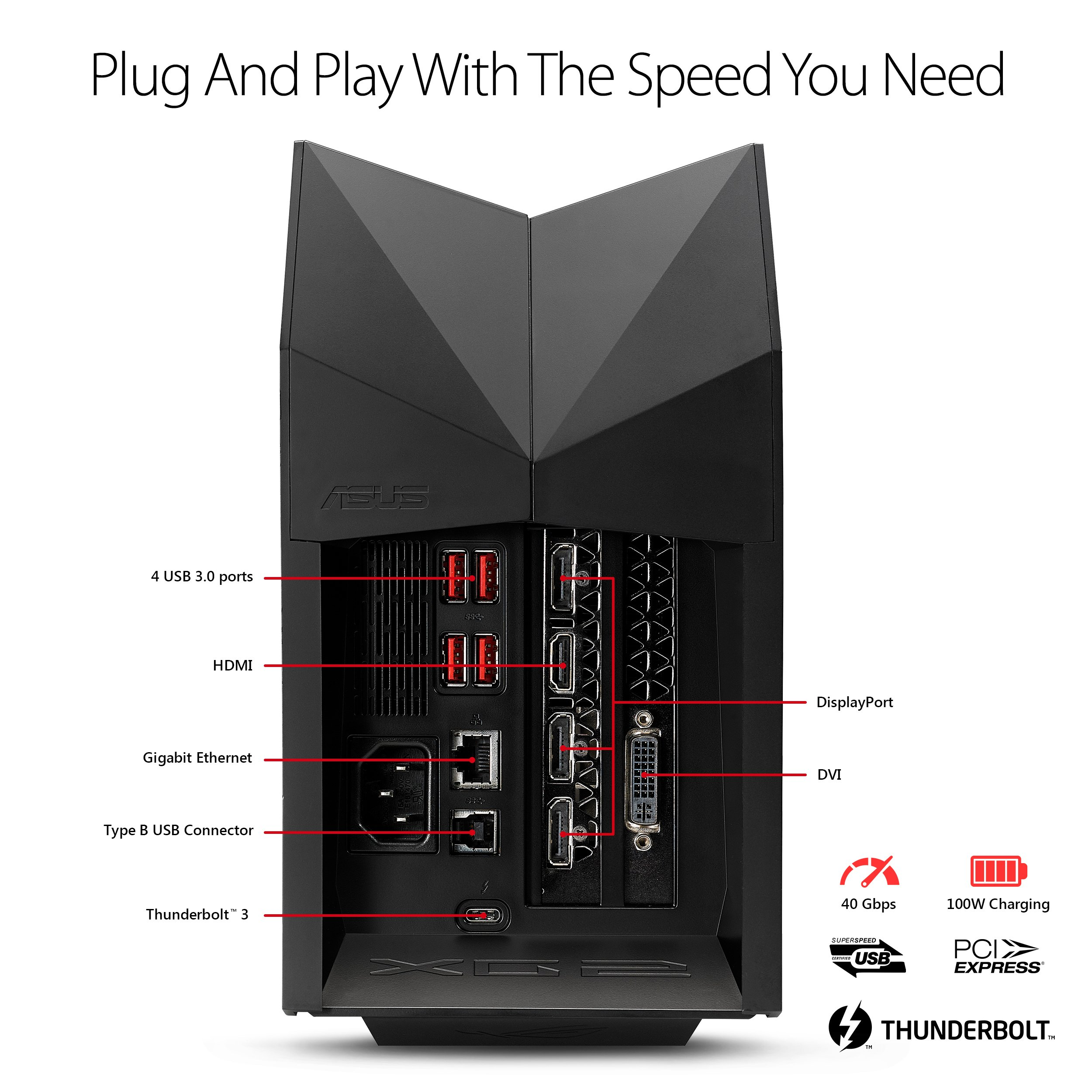 ASUS ROG-XG-STATION-2 2 Thunderbolt 3 USB 3.0 External Graphics Card Dock by Asus (Image #1)