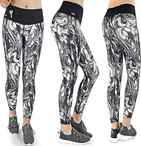 Da Donna con tasca laterale in pile Pantaloni Pantaloni Look Denim da palestra pantaloni sportivi in basso