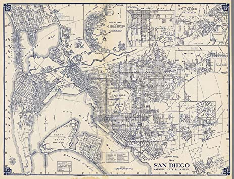 Amazoncom State Atlas 1938 Thomas Bros Map of San Diego