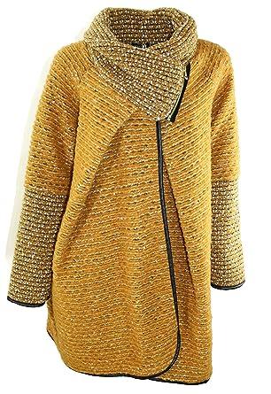 reputable site 17477 a91d9 #1109 Damen warme Winter Jacke Strickjacke Cardigan aus Wolle MADE IN ITALY  Braun Rot Blau Schwarz 36 38 40 42