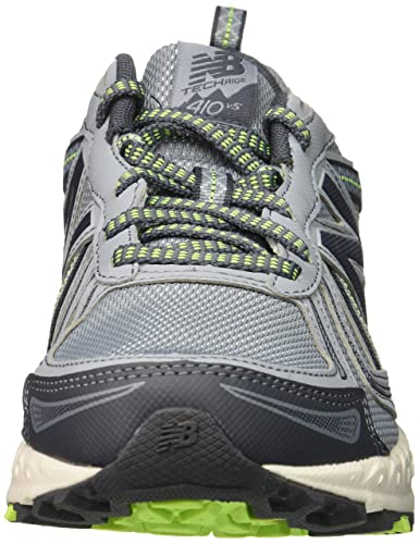 New Balance Women s WT410v5 Cushioning Trail Running Shoe, Light Grey, 8 D US