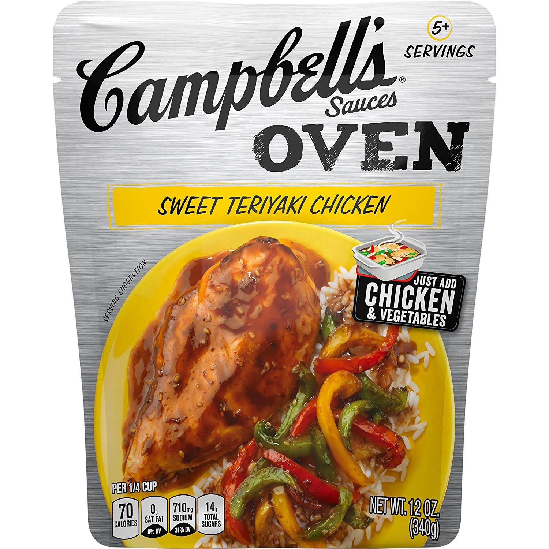 Campbell's Oven Sauce, Sweet Teriyaki Chicken, 12 oz.