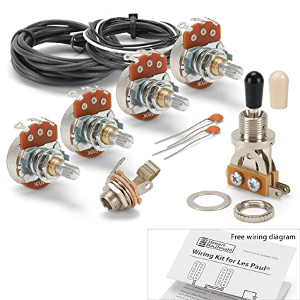 Amazon.com: Golden Age Wiring Kit for Gibson Les Paul Guitar ... on epiphone les paul wiring, bc rich pickup wiring, 3 humbucker les paul wiring, gibson humbucker wiring, gibson nighthawk pickup wiring, 1959 les paul wiring, les paul standard wiring, 50's les paul wiring, jimmy page les paul wiring, fender pickup wiring, epiphone pickup wiring, gibson pickups identification, les paul jr wiring, guitar pickup wiring, les paul switch wiring, les paul coil tap wiring, humbucker pickup wiring, gibson 498t pickup, 59 les paul wiring, gibson switch wiring,