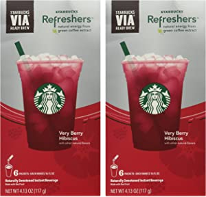 Amazoncom Starbucks Via Instant Coffee Very Berry Hibiscus