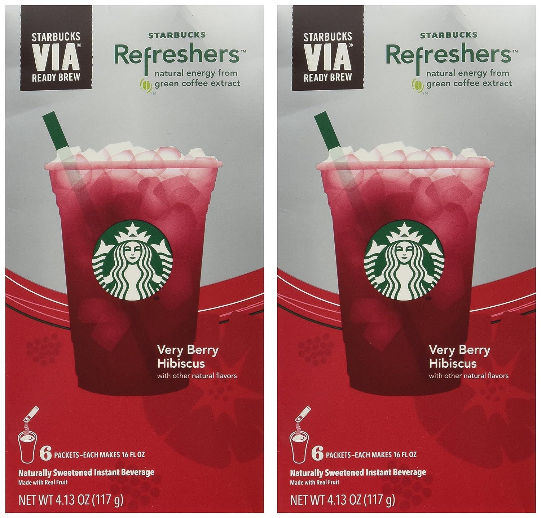 Amazoncom Starbucks Via Instant Refreshers Very Berry Hibiscus