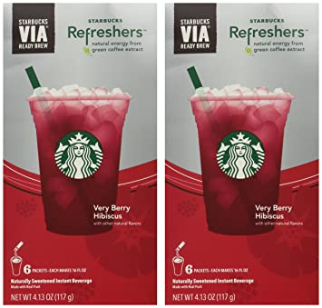 Amazoncom Starbucks Via Instant Refreshers Very Berry Hibiscus