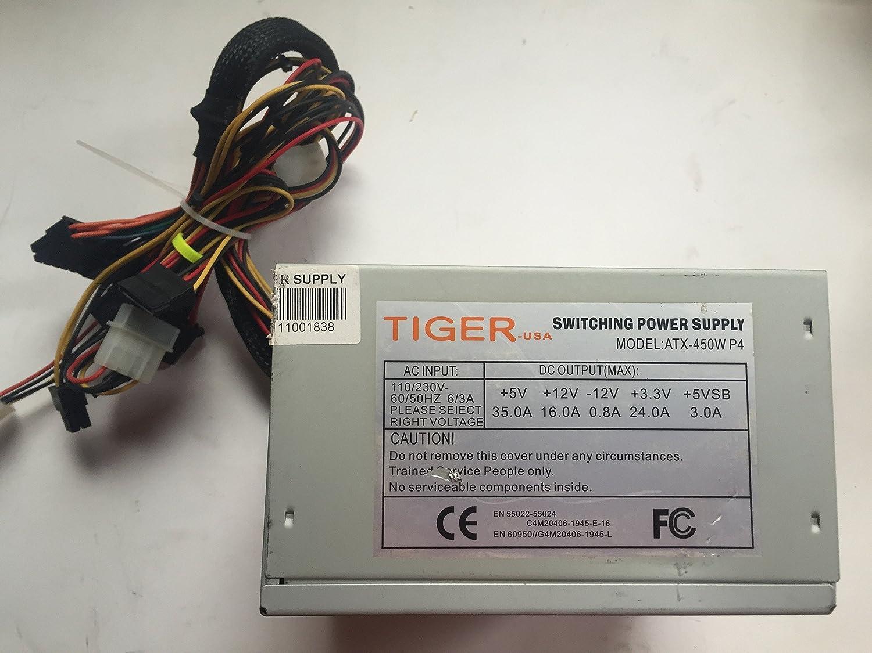 Amazon.com: Tiger-USA 450W Switching Power Supply- ATX-450W P4 ...