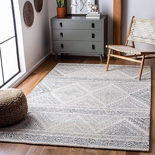 Safavieh Micro-Loop Collection MLP206A Handmade Moroccan Boho Premium Wool Area Rug