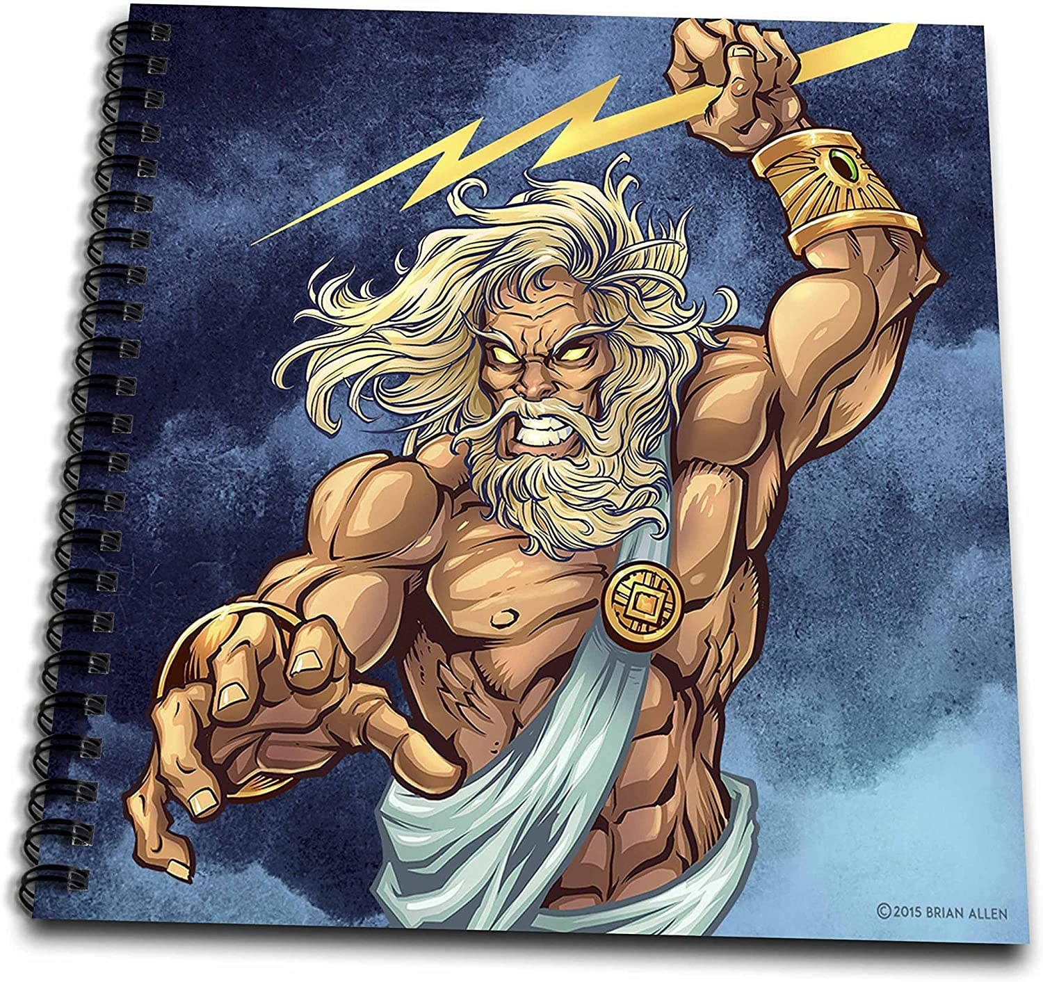 Amazon Com 3drose Zeus Throwing A Lightning Bolt From A Stormy Sky Drawing Book 8 X 8 Arts Crafts Sewing