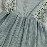 KCSLLCA Baby Girls Lace Romper Set Ruffle Sleeve