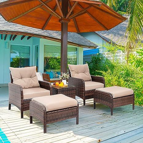Amazon.com: Viogarden - Juego de 5 piezas de muebles de ...