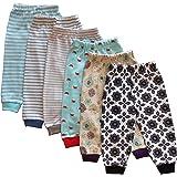Tinchuk Kid's Cotton Rib Mixed Prints Pyjama (Yellow, 2-3 Years) - Set of 6