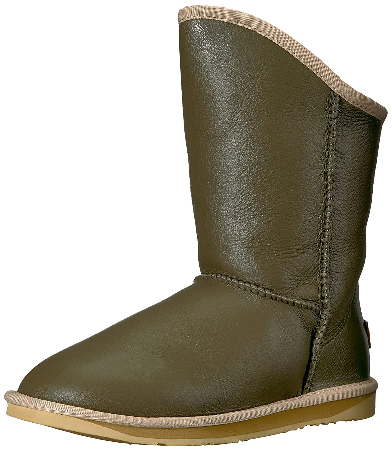 Luxe Co............................. Womens Cosy Short Closed Toe Mid-Calf Fashion Boots B075FY2KWT 8 B(M) US|Army