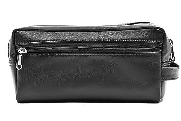 a76e3aa6c7f5 Amazon.com  Ashlin Double Section Toiletry Bag - 100% Tuscany Leather  (T7538-18-01)  Ashlin - PoppyBuzz--CDA
